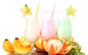 Fruit–Milk-Shakes