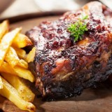 Grilled Pork-Rib With HP Sauce & French Fries
